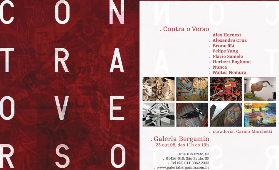 """Flip e cia mostrarão seus trabalhos na expo """"Contra o Verso"""""""