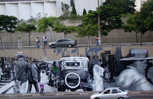 """Arte de Eduardo Kobra na Av. 23 de Maio """"depois"""""""