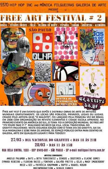 2ª edição do Free Art Festival acontece começa hoje (27)