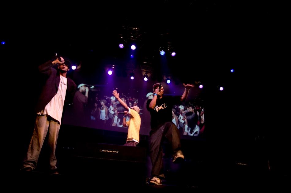Emicida, Jeffe e Kamau no Indie Hip Hop 08' por Ênio César