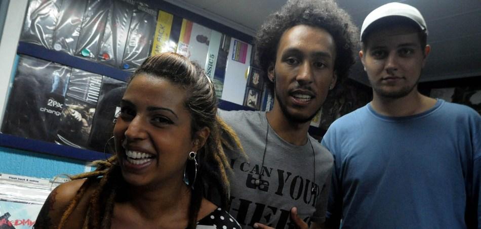 Nathalia Leme, Eduardo Ribas e Daniel Cunha - equipe do Per Raps