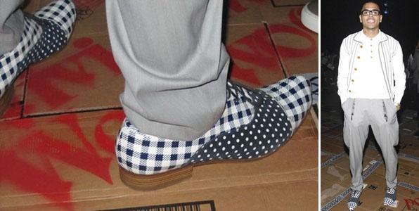 Sapato de Chris Brown na Semana de Moda de Milão
