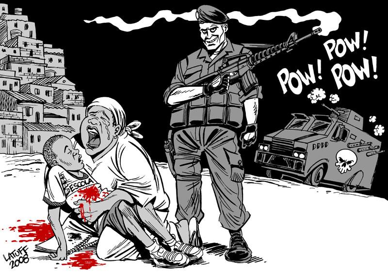 Police extermination policy por Carlos Latuff (latuff2.deviantart.com/)
